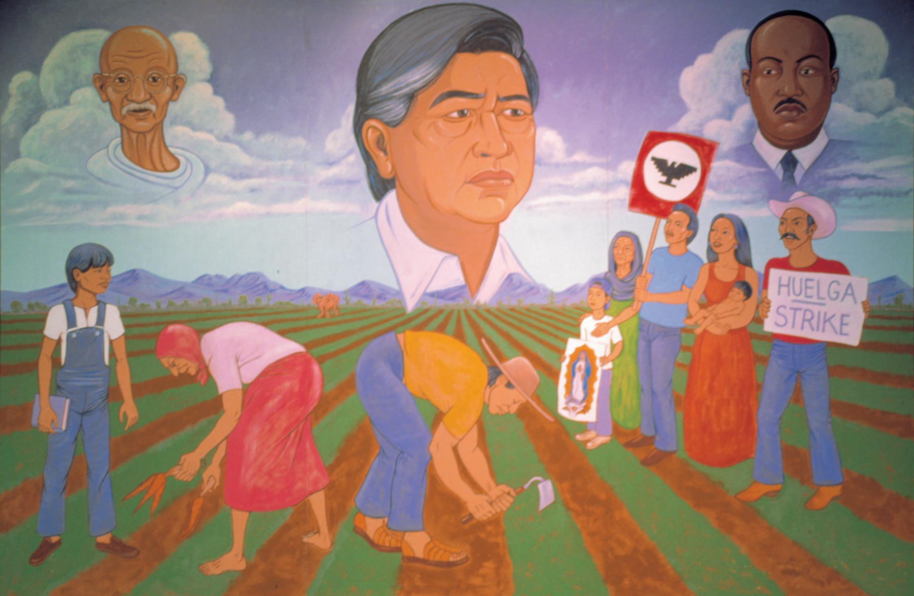 Chapter 9 growing arizona primary resources arizona for Cesar chavez mural